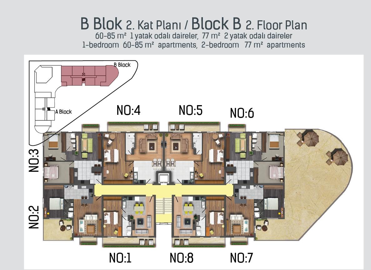 B Blok 2. kat