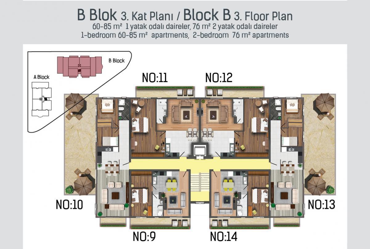 B Blok 3. kat