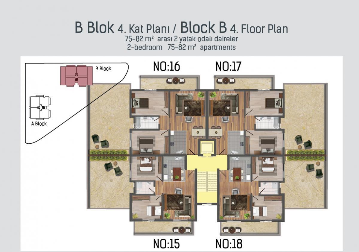 B Blok 4. kat